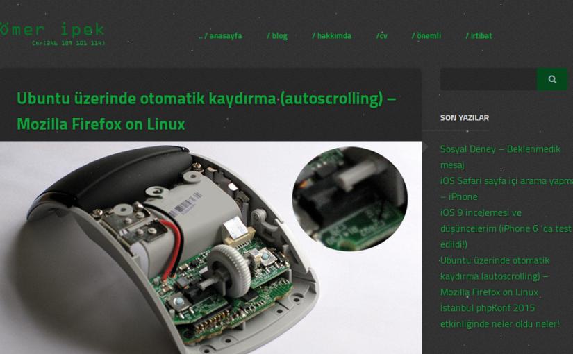 Yeni WordPress teması – Siyah – Yeşil