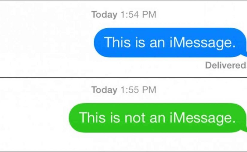 iPhone iMessage yerine normal mesaj atma