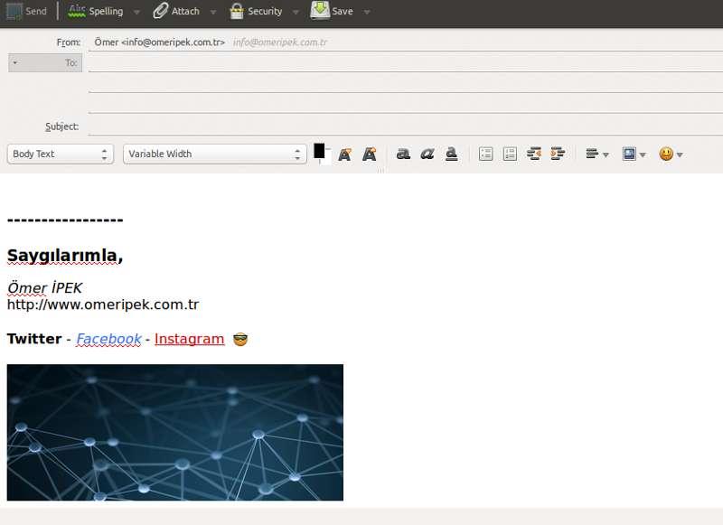 Mozilla Thunderbird imza ayarları